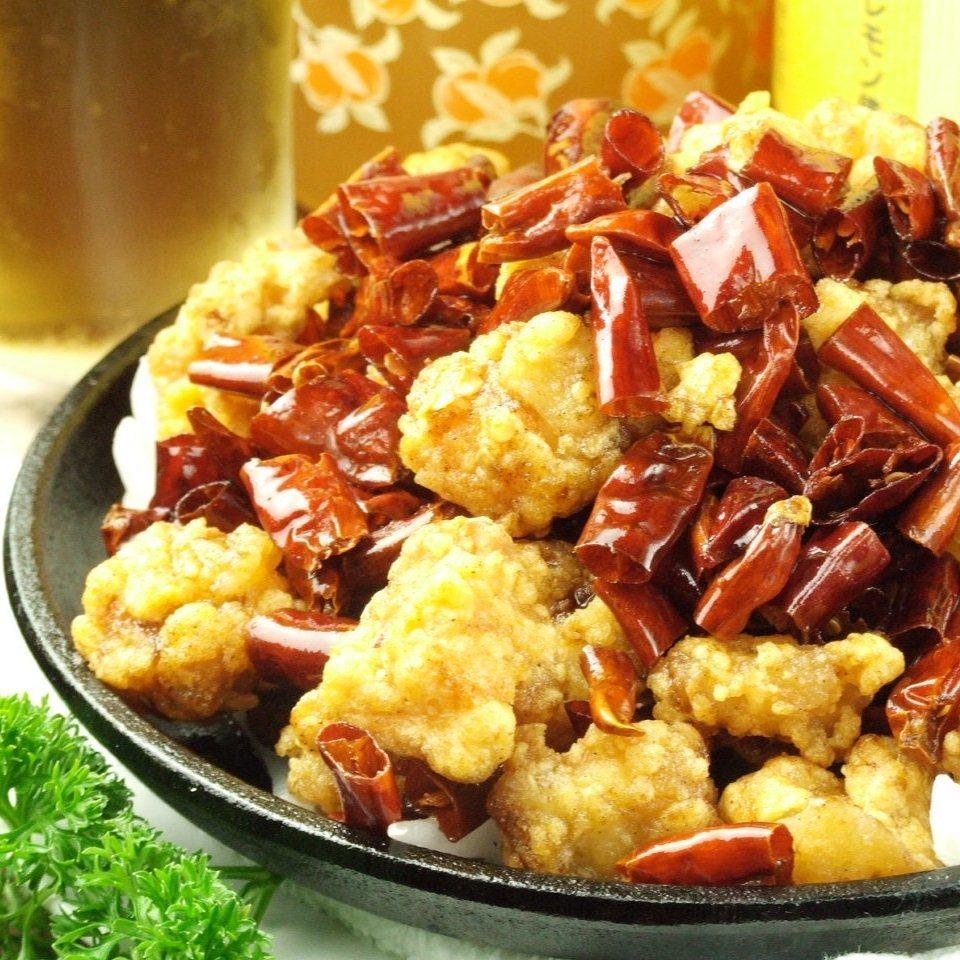 Stir-fried chicken cartilage spicy