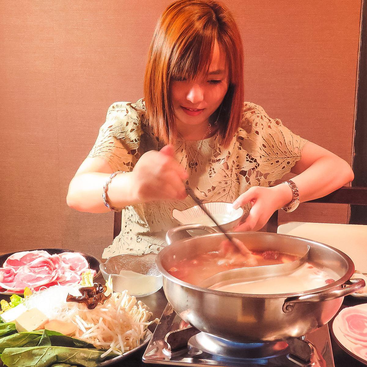 ◆宴会予約受付中◆パルコすぐ!2~30名までのしっとり個室完備の薬膳火鍋専門店。