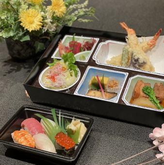 【法事用】お持帰り用お弁当 天ぷら・寿司御膳 1人前 2,980円