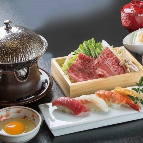 Sushi and sukiyaki set