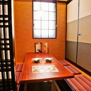 所有房間都是完全私人房間♪推薦是一個6至8人的私人房間!休息時間與一個安靜的座位。 。 。酒店還提供使用精選食材烹製的各種季節性課程。
