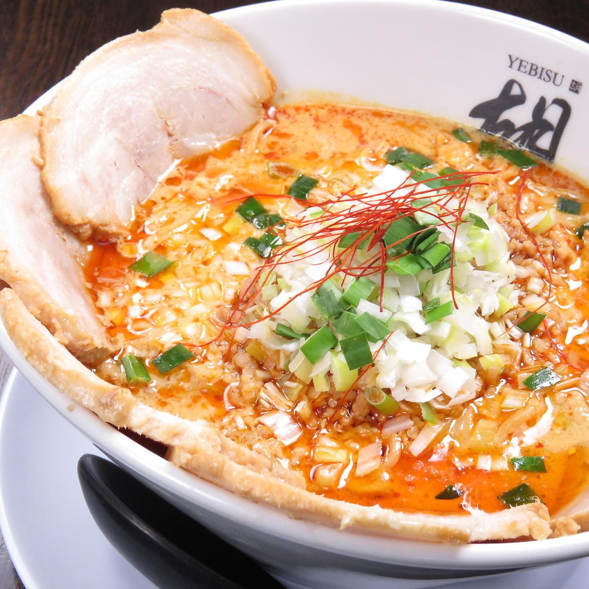 担担麺の種類が豊富!