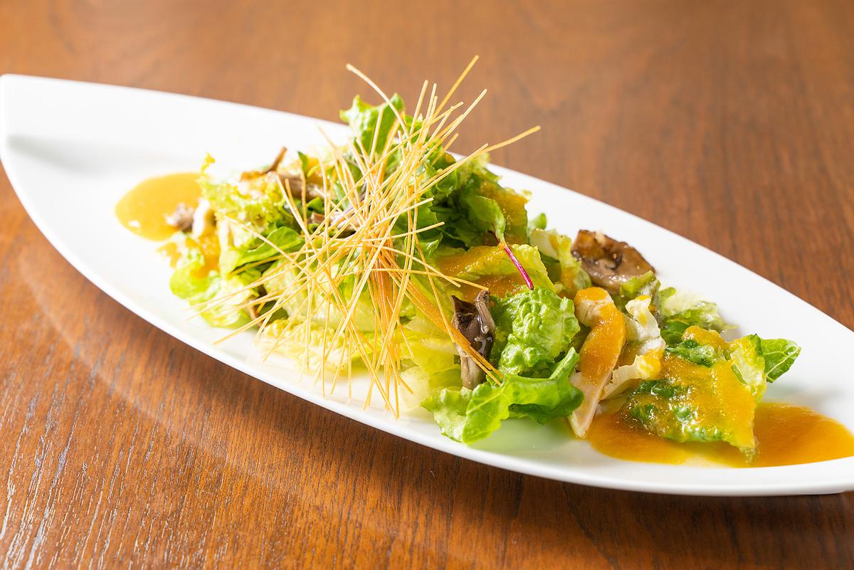 無農薬野菜もりもり極上人参ドレッシングサラダ