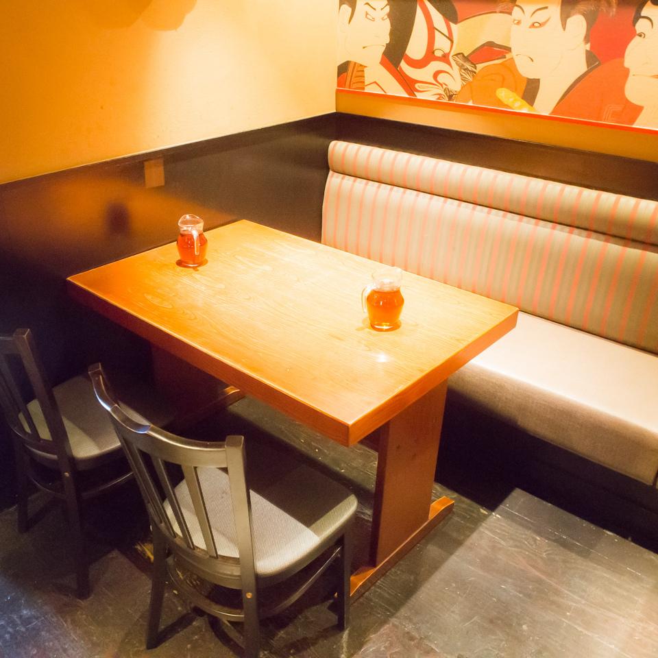 気軽に使いやすいテーブル席多数