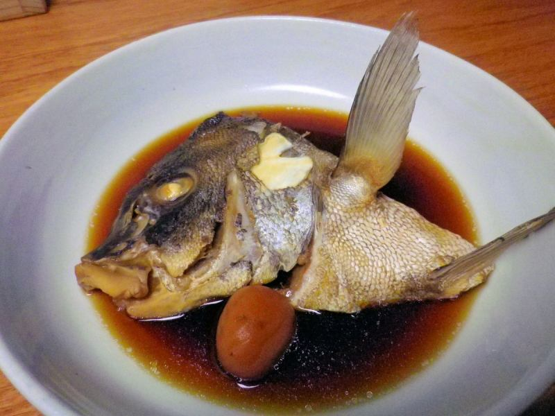 Today's boiled fish (photo is pepper sea bream)