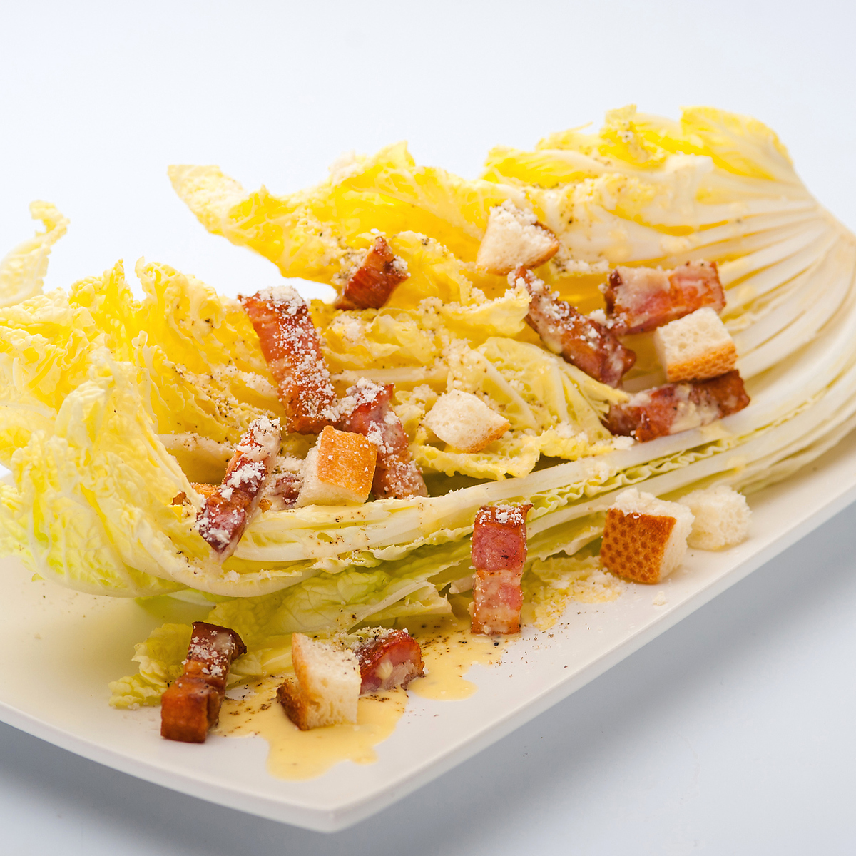 Chinese cabbage Caesar salad