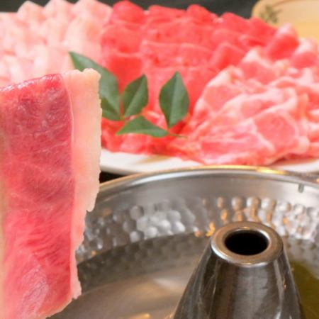 【Shabu Shabu】 All you can eat 2 hours & All you can drink 3 hours Weekday 3500 yen / weekend 3800 yen (tax included)