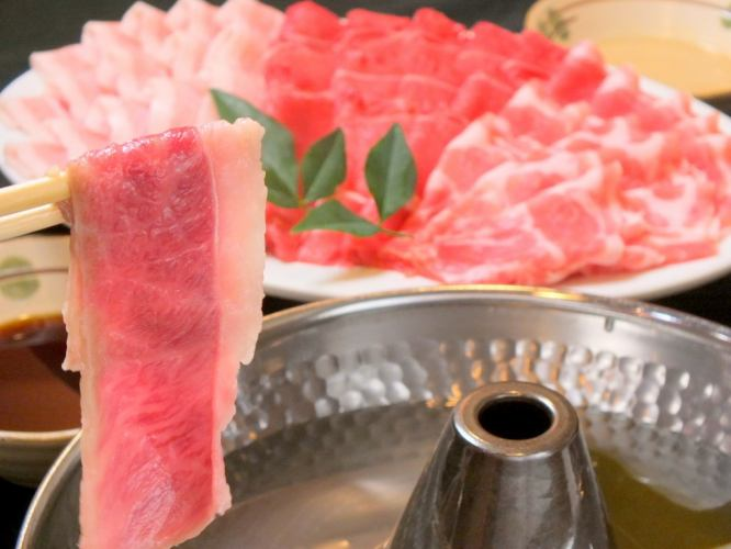 【Shabu Shabu】 All you can eat All you can drink 2 hours Weekday 3500 yen / weekend 3800 yen (tax included)