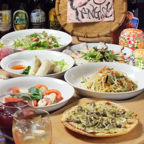 All 6 items 【2 H with drink all you can do】 Yankee course 3900 yen ♪ Course that gathered popular menu! At the party / girls' party