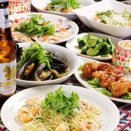 All 7 items 【All-you-can-drink all-you-can-eat】 With this course if you like Pakuchi !! Pakchi course 4000 yen
