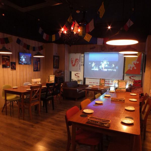 Maximum of 25 people for banquet ♪ Projector is complete !! 15 people from 15 people OK ☆ Please contact us.Course with unlimited drinks from 3500 yen ~ available!