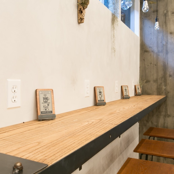 Okazaki departs! It is unusual space to direct ★ Counter seats are popular seats for one person or pair customers.