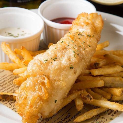世界一の?究極のフィッシュ&チップスを本場の雰囲気で! ♪ Cod and Chips