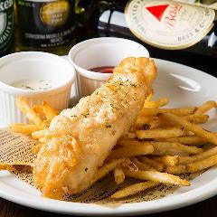 Cod and Chips ギネス衣の特製フィッシュ&チップス