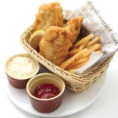 Chicken and Chips 朝引き鶏のチキン&チップス