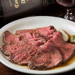 Roast beef with red wine gravy 看板!ローストビーフ ~グレービー赤ワインソース~