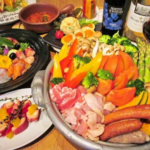"【Winter Limited】 ""Nabe for greedy girls"" ☆ Course 3500 yen"