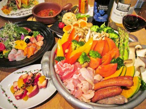 【冬季限定】『欲張り女子のための鍋』☆コース3500円