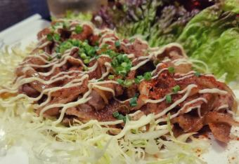 稻草炒猪肉玫瑰芽/猪肚炒香/炒沙风味辣椒