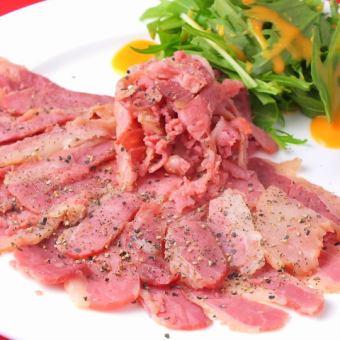 马肉培根切片