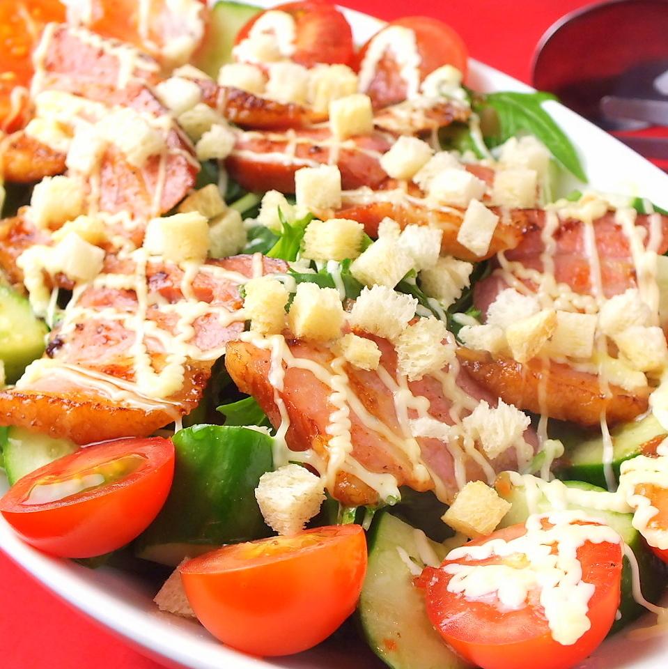 厚切片培根沙拉