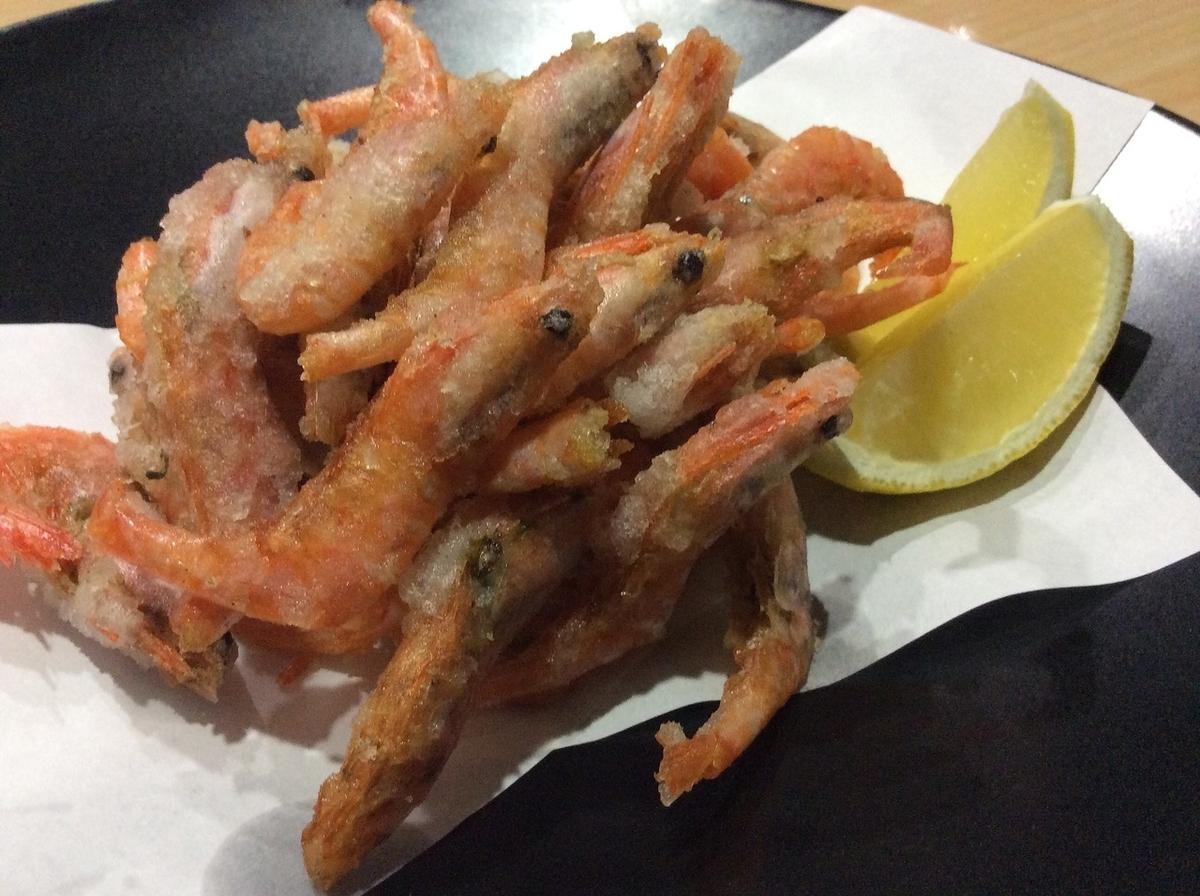 Deep-fried sweet shrimp