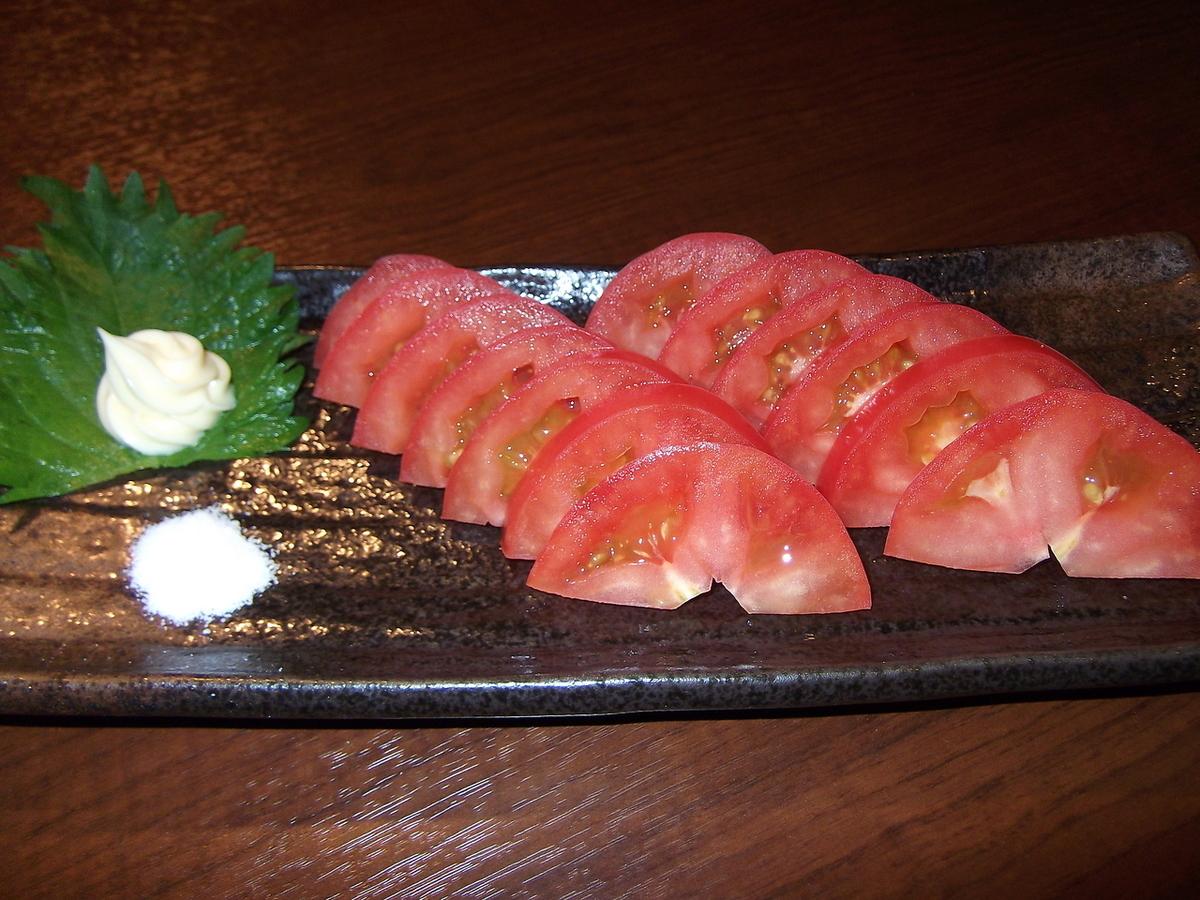 番茄切片/冷铲/ mozuku /