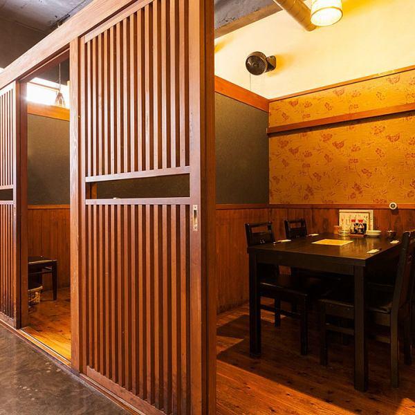 【もちろん少人数でも個室OK】 テーブル個室は最大5名様まで。会社帰りの仲間内のプライベート宴会や、合コンなどに最適です!