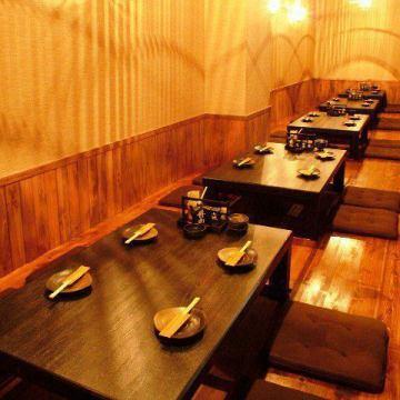 博多で様々なシーンに◎ 掘りごたつ・座敷・テーブル・カウンター席を完備