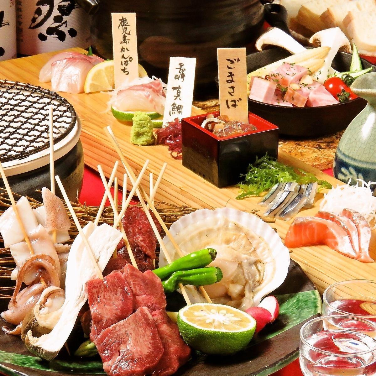 九州の旬を炭火で炙るお料理は絶品~博多名物を存分に味わうならココ~
