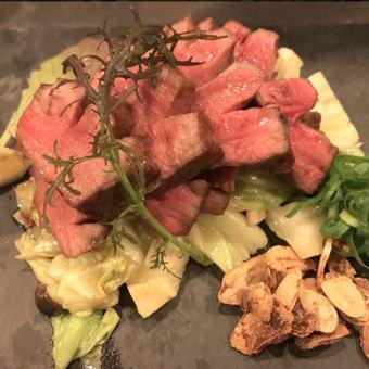 。★厚切り牛タンステーキ&海老アヒージョ贅沢¥4980コース(お料理7品+飲み放題2H付)★。