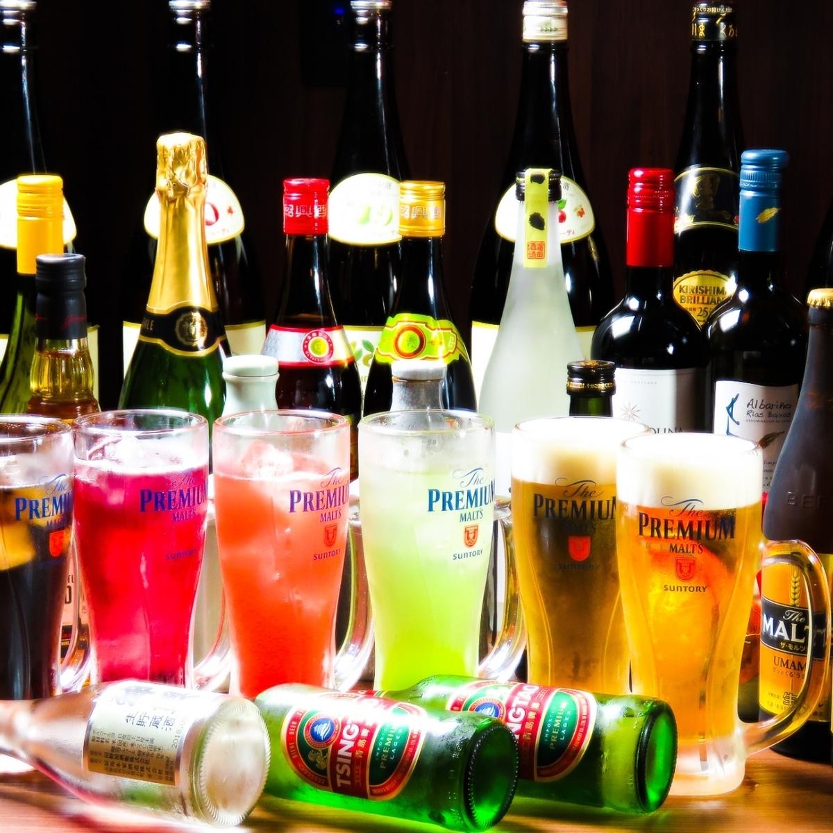 60種豐富的飲料☆我們在中國也有清酒