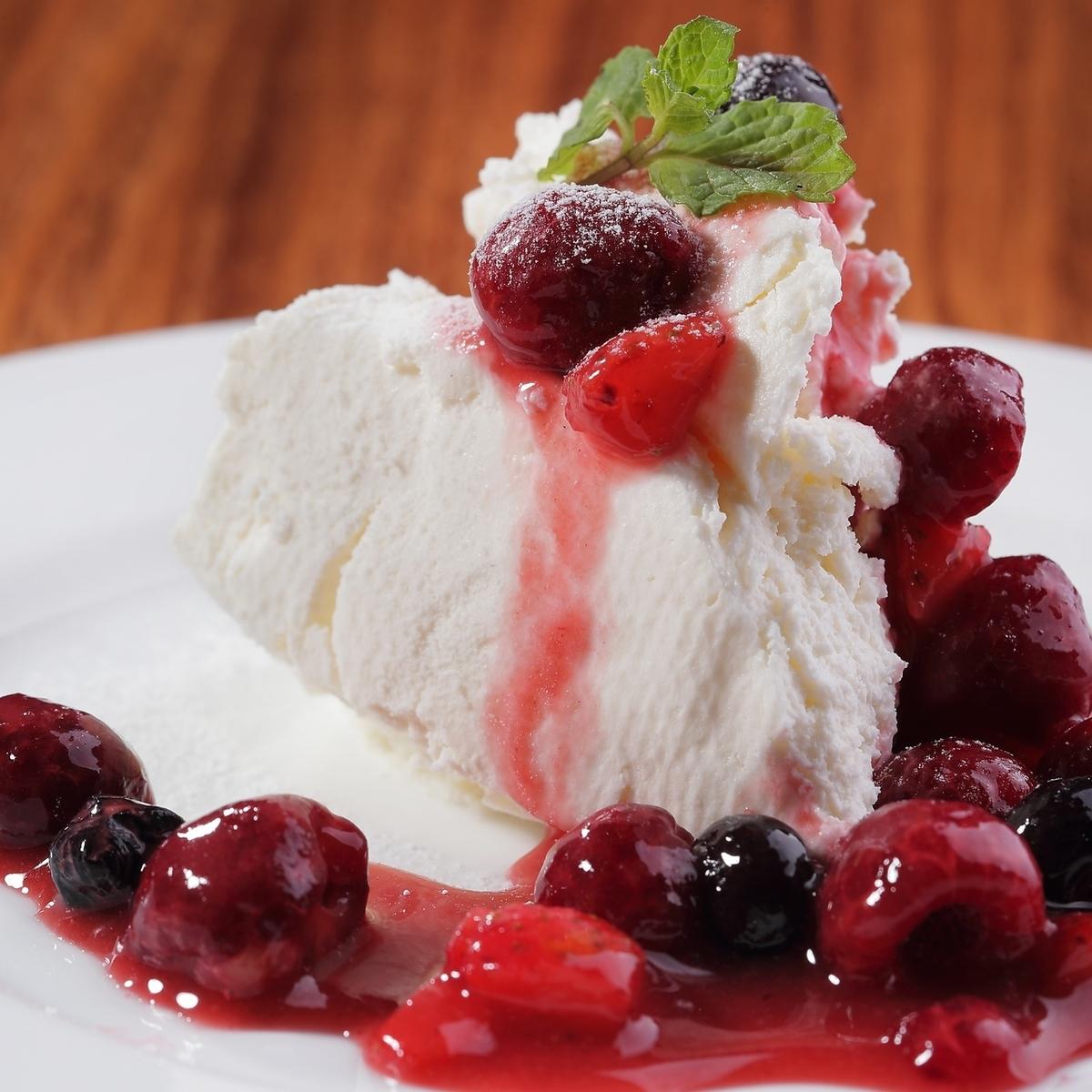 レアクリームチーズケーキ