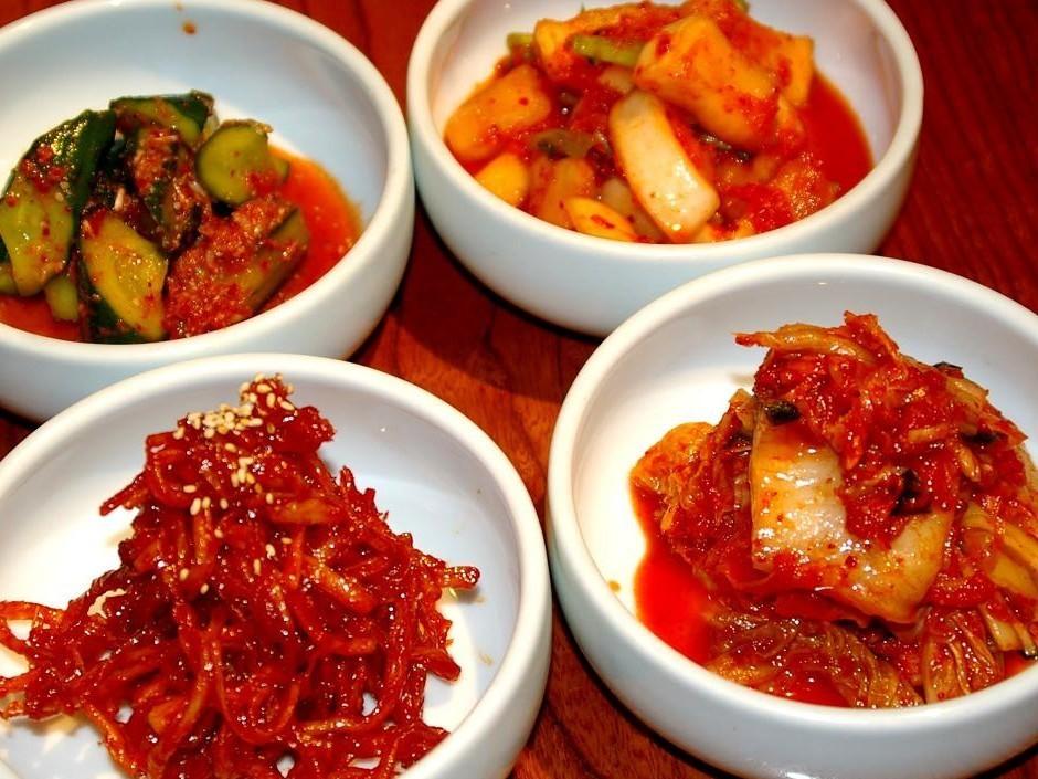 Homemade Kimchi / Edamame / Baked Gyoza