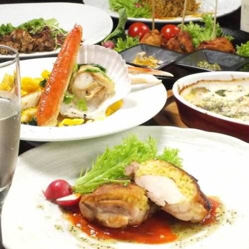 120 minutes ★ Eating and drinking All you can 3500 yen ⇒ Female 2580 yen / Men ⇒ 3000 yen ♪ ~ All you can drink sparkling wine ~