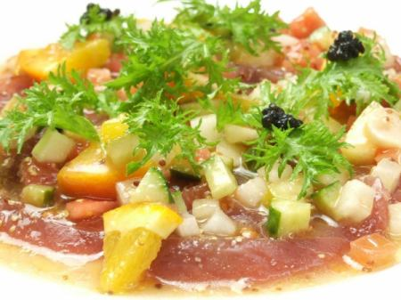 Today's fresh fish carpaccio