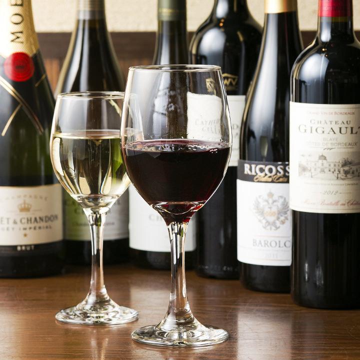 葡萄酒學校的人們有各種各樣的紅/白/氣泡超過15種【葡萄酒×Yakinba好吃!】