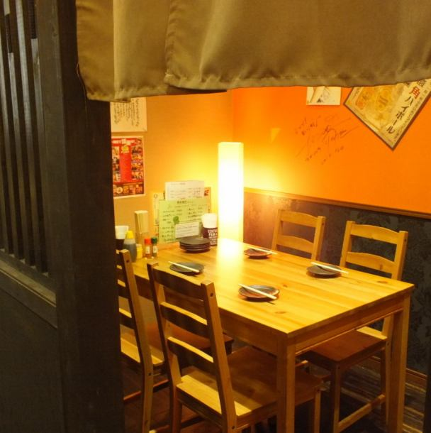 カーテン付きの半個室☆人気のチーズフォンデュタッカルビコースで女子会などの利用で賑わっております!