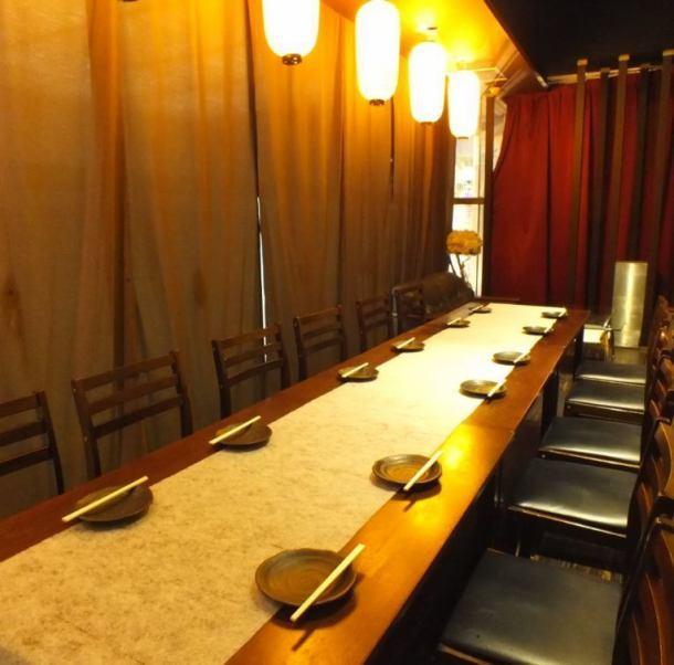 【完全個室☆】忘年会にオススメ!5名~最大14名様までOK♪個室内にセルフドリンクコーナーがございます♪お客様の好きな飲み方や割り方でご利用頂けます☆人気の個室ですのでご予約必須です!