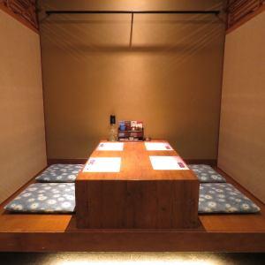 小上がり【2名様から4名様】ちょっとした飲み会や少人数で飲む方に最適なお席となっております。