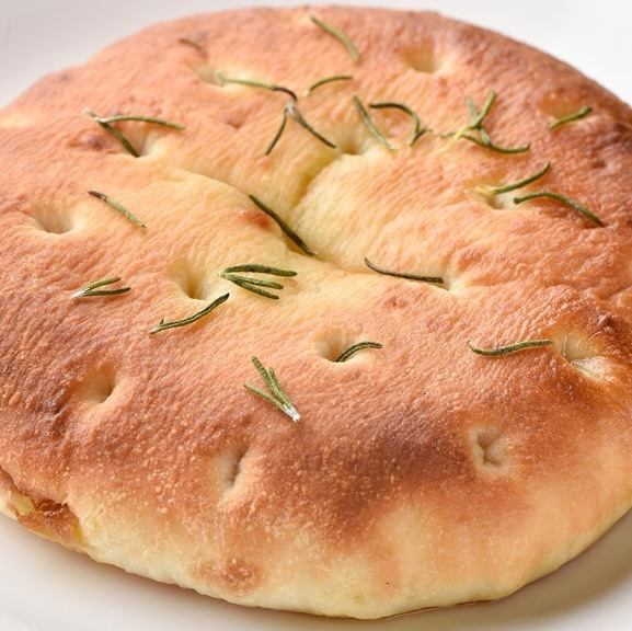 Homemade made Focaccia rosemary flavor
