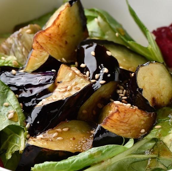 法蓮草と茄子のサラダ