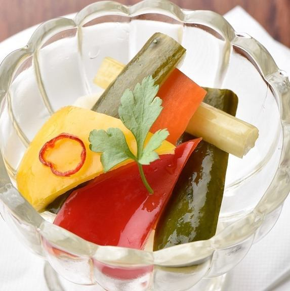 Western style vegetable pickles