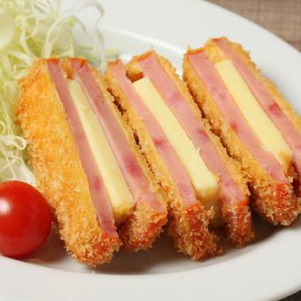 Cheese ham cutlets