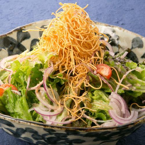 長崎揚げ麺の利休サラダ
