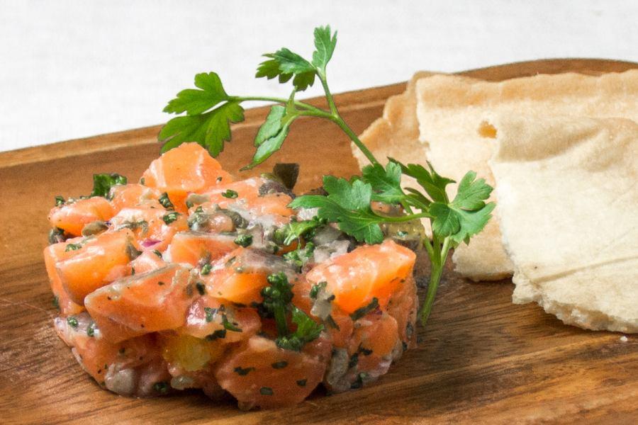 Salmon and Orange Tartaru