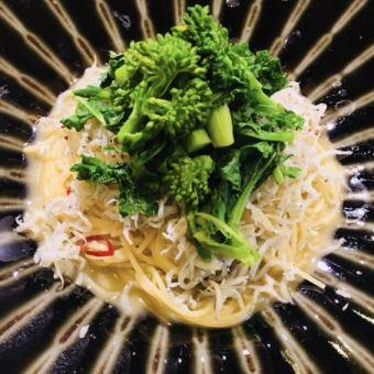 Rapeseed and Shirasu oil pasta