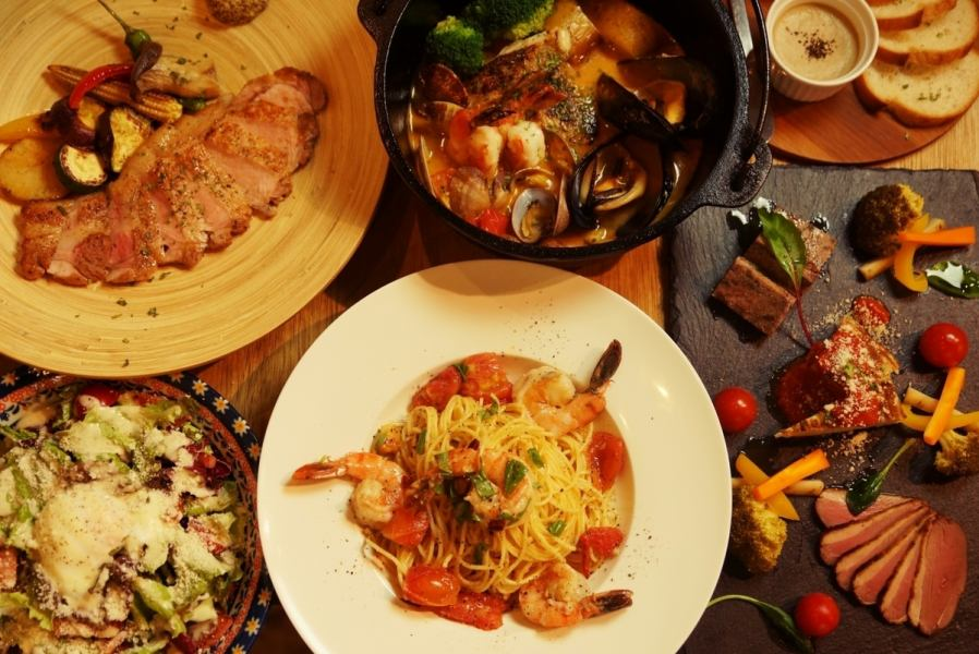 【At the party!】 You can taste meat and fish ♪ 2 hour drink all course (7 items in total)