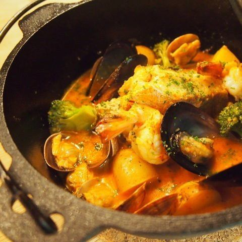 Iron pan bouillabaisse