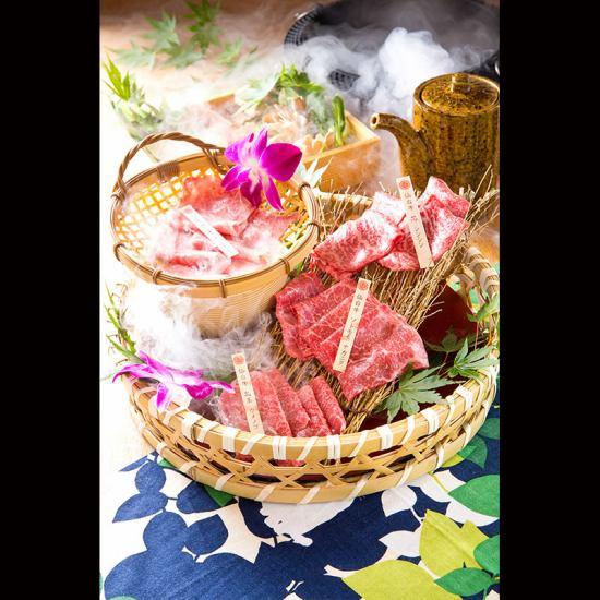 仙台牛しゃぶしゃぶ・すき焼き・寿司・ステーキ丼付1万円コース